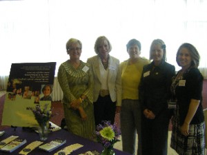Sharon Green, Dr. Marie Savard, Susan Scanlan, Sarah Bristol-Gould, and Michelle Desjardins at the luncheon