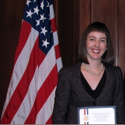 Melina Kibbe honored at White House
